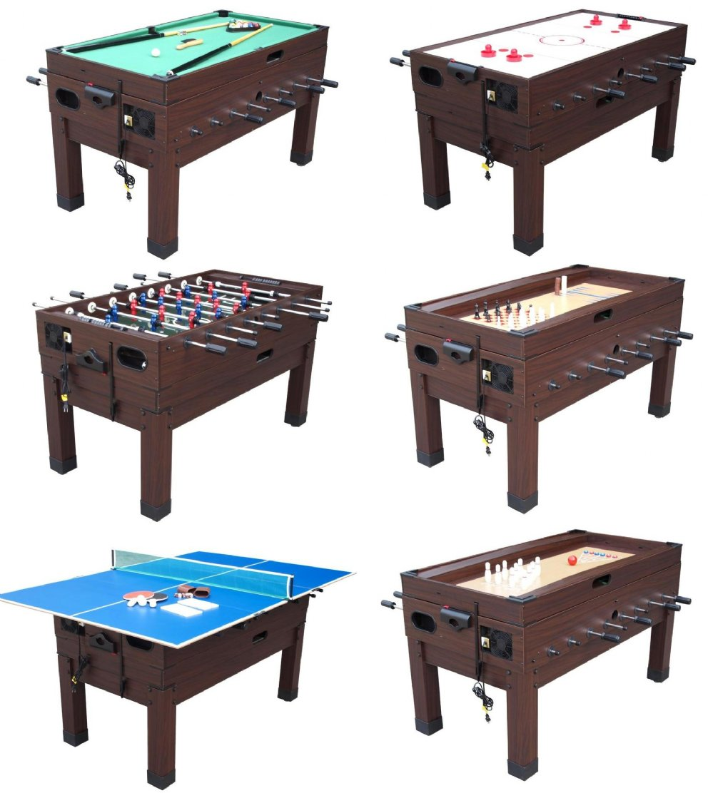 13 in 1 combination game table in espresso combination