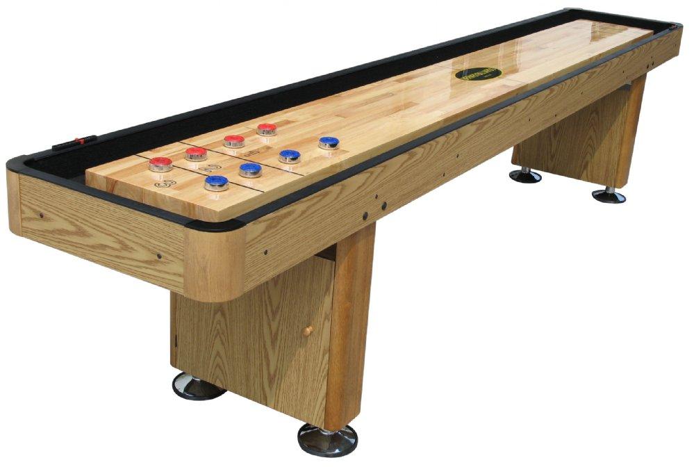 u0026quot;The Standardu0026quot; 12 foot Shuffleboard Table In Oak - Berner ...