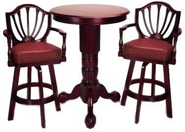 Mahogany Pedestal Pub Table Set Pub Tables Amp Bar Stools
