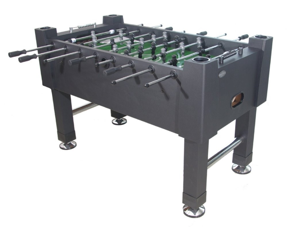 The Player Foosball Table In Black With Both 1 U0026 3 Man Goalie