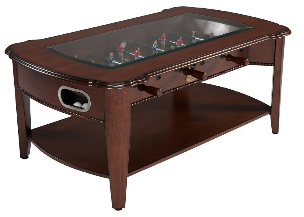 2 in 1 foosball coffee table in antique walnut combination tables berner billiards