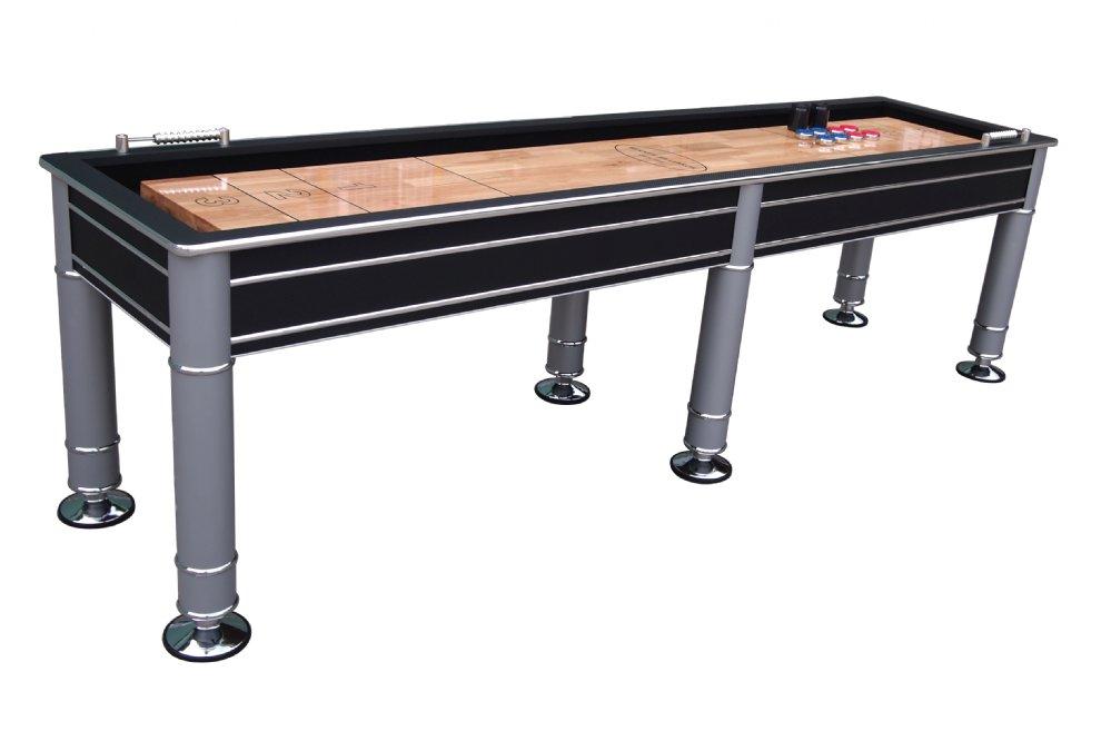 The cosmopolitan 9 or 12 foot shuffleboard table for 12 foot shuffleboard table dimensions