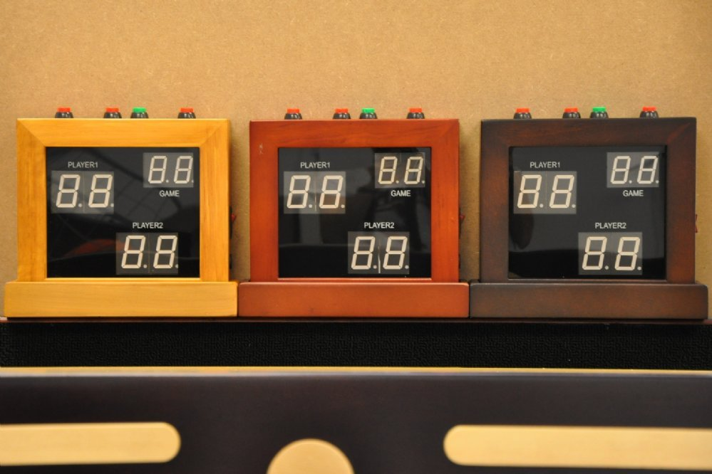 2 Player Electronic Score Board Available In Oak Cherry