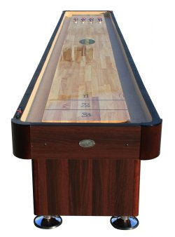 The Standard Foot Shuffleboard Table In Espresso Berner Billiards - Standard shuffleboard table