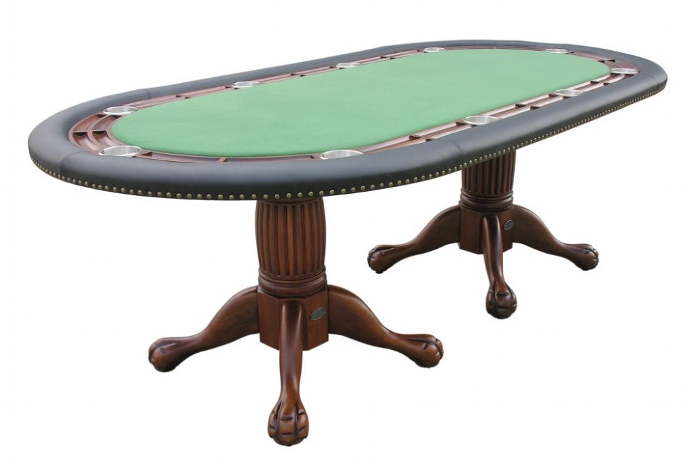 96 Quot Oval Holdem Poker Table W Optional Dining Top In