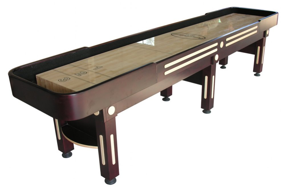 The majestic 12 foot shuffleboard table in mahogany for 12 foot shuffle board table