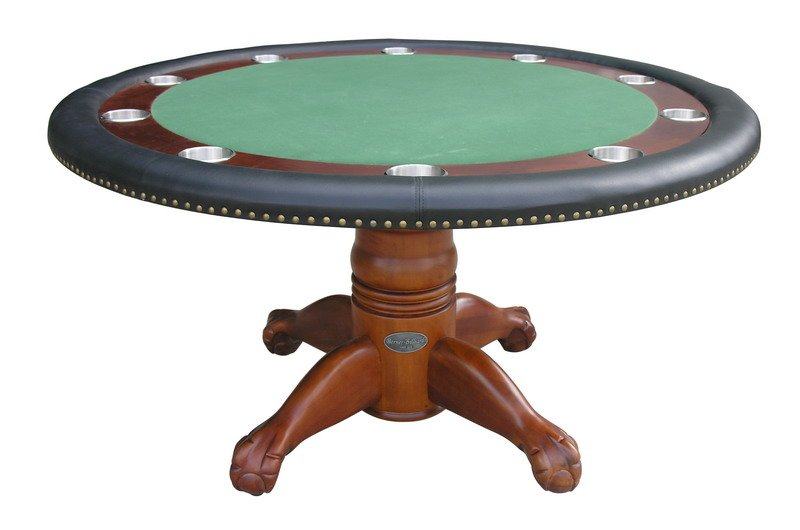 60 round poker table w optional dining top in antique for 10 person poker table top