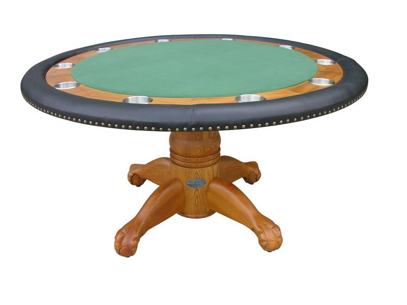 60 Quot Round Poker Table W Optional Dining Top In Oak
